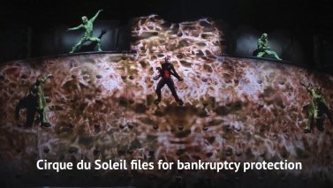 Bankruptcy protection has been filed by Cirque du Soleil.